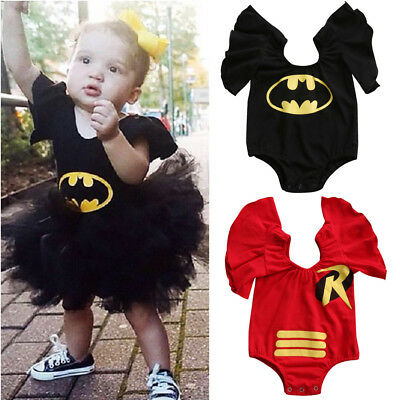 Baby Batman Outfit (Toddler Newborn Baby Girl Batman Cartoon Bodysuit Romper Jumpsuit Outfit)