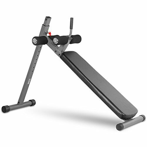 Adjustable Decline Ab Bench with 12 Vertical Height Adjustments - Gray