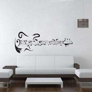 Musique notes quotes for Decoration murale guitare