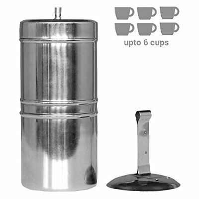 Kitchen Mart Stainless Steel South Indian Filter Coffee Drip Maker, 600ml (600-M