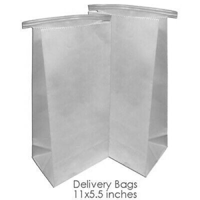 Dental Delivery Bags - Paper Heavy Duty - Tin Tie Closure - 500 Pcs