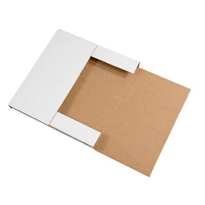 100 - 12-18 X 9 18 X 1 White Multi Depth Bookfold Mailer Book Box Bookfolds