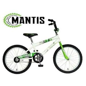NEW MANTIS 20 KIDS BICYCLE 64220 241418905 BIKE GRIZZLED WHITE GREEN 12 FRAME