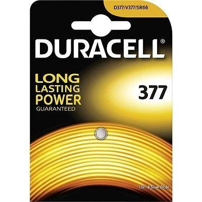 1 pila 377 Duracell - Pila SR626sw óxido de plata SR66
