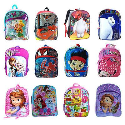 """Disney & Nickelodeon $ Shopkins 14""""- 16"""" Bag For Kids Backpacks School Bags"""
