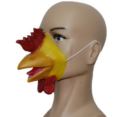 Hahn Huhn Latex Maske Schnabel Tierfarm Kostüm Junggesellenabschied