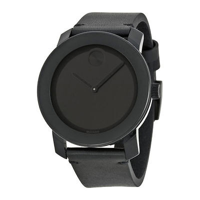 Movado Bold 3600306 Black Museum Dial Black Leather Unisex Watch