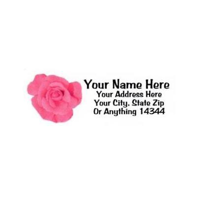 Pinkishreddish Rose Design Personalized Address Labels 30pcs-free Us Shipping
