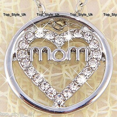 Unique Infinite Circle Heart Mum Necklace Gift 4 Mothers Day Birthday Present  3