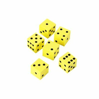 6 x 16mm Foam Dot Dice by Learning Resources - Soft Maths Dice for (Foam Dot Dice)