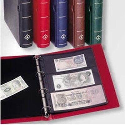 Leuchtturm (336106) Banknotenalbum VARIO, inkl. 10 Hüllen, schwarz Schwarz