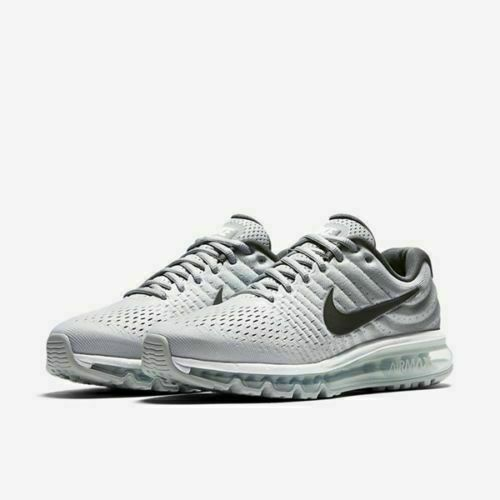 Nike Air Max 2017 Running Shoes White Dark Grey Wolf Gray 849559-101 Men's  NEW