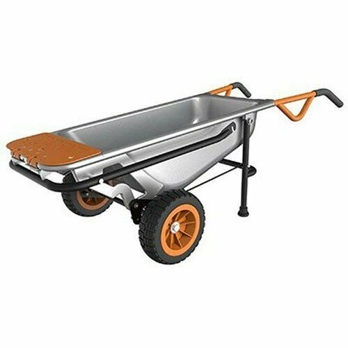 WORX WG050 Aerocart 8-in-1 2-Wheel Wheelbarrow/Garden Cart/D