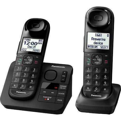 Panasonic KX-TGL432 Cordless Home Phone w/ Digital Answering Machine Black