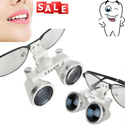 Dentist Dental Surgical Medical Binocular Loupes 2.5x 420mm Optical Glass Loupe