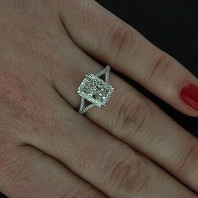 GIA Certified 2.02 Carat Radiant Cut Diamond Engagement Ring 18k White Gold 1