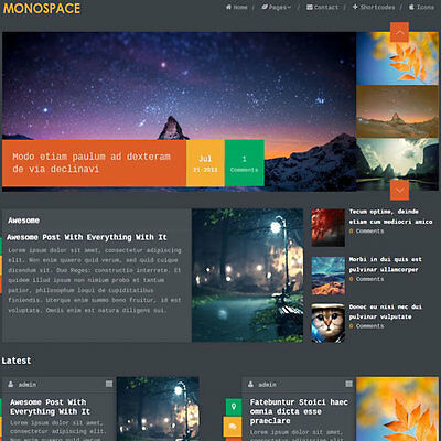 Wordpress Monospace Website News Magazine Theme Business Free Hosting