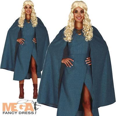 Dragon Queen Ladies Fancy Dress Medieval GOT Khaleesi Adults Book Day Costume - Dragon Queen Kostüm