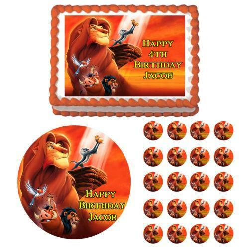Lion King Cupcake Toppers Ebay