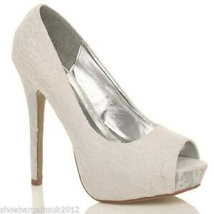a7df1c67ae49 White Lace Wedding Shoes