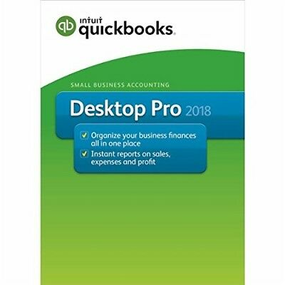 Intuit Quickbooks Pro 2018   Retail Green Box Package   Authentic Intuit Product