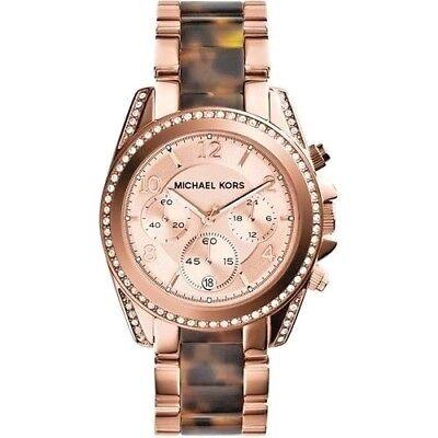 Michael Kors Women's MK5859 Blair Chronograph Rose Dial 39 mm Watch