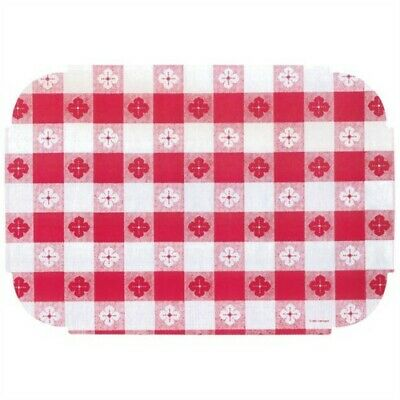 Red Gingham Paper Napkins (Red Gingham Paper Placemats 50 Pack Printed Paper Placemat Paperware Party)