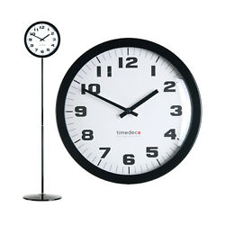 Modern Stand Floor Clock Home Decor Interior Separate Stand Clock - Simple(BK)