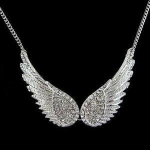 angel wing necklace ebay. Black Bedroom Furniture Sets. Home Design Ideas