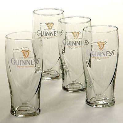 Guinness Beer Glasses - New Set of 4 Guinness Irish Pint Beer Glasses 16oz