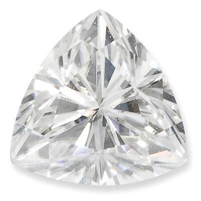 1 Trillion Cut Brilliant Moissanite 7mm Diameter 1.00 tcw H-Color Loose Stone
