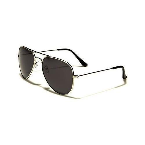 Silver W. Black Lens Polarized Driving Aviator