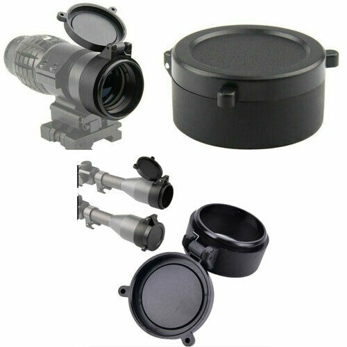 Rifle Scope Lens Cover Flip Up Cap Objective Lid Quick Spring Protection USA NEW