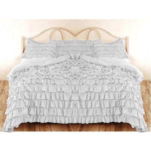 White Ruffle Bedding Ebay