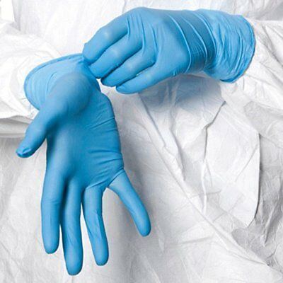 100 Shield Nitrile Disposable Powder Free Gloves Non Latex Vinyl Exam Large