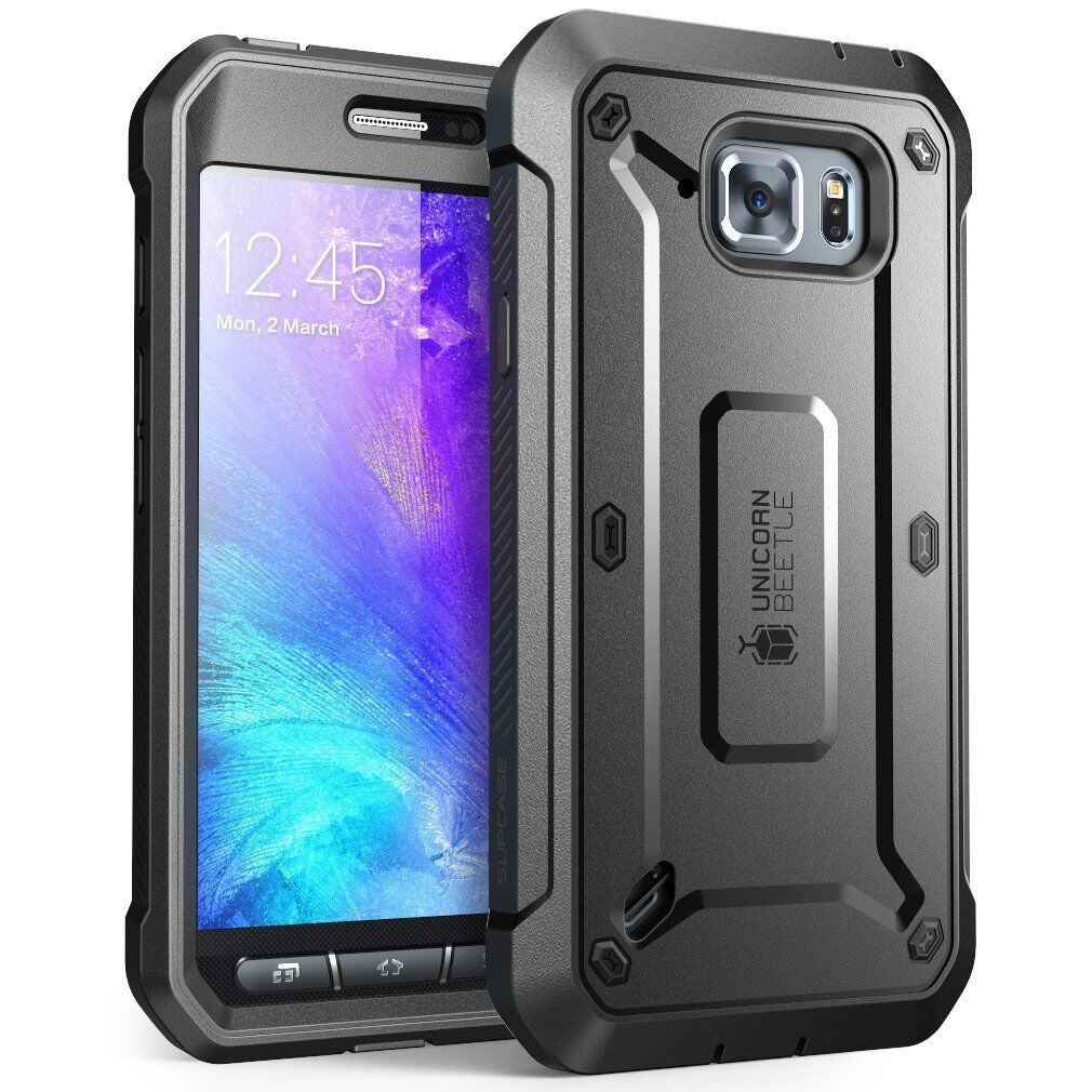 For Galaxy S6 Active Case, SUPCASE Beetle Pro Holster Cover w/ Screen Protector