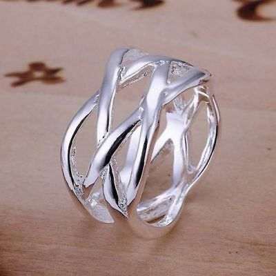 New Women Fashion Jewelry 925 Sterling Silver Plated Size 7 Ring Thumb Finger  ()