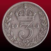 1914 Silver Threepence