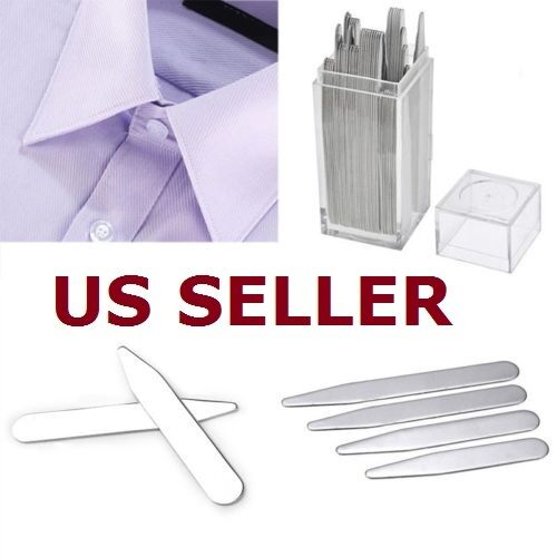 40pcs Metal Collar Stays Bone Stiffeners 4 Sizes Inserts in Box For Men? Shirt