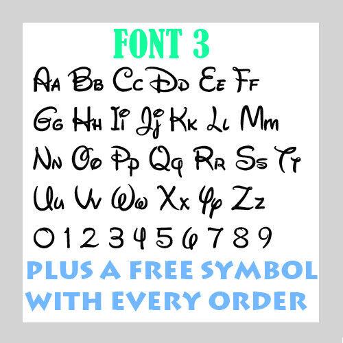 Personalised  Name Word Letter Vinyl Custom Sticker Car Wall art FREE symbol 4