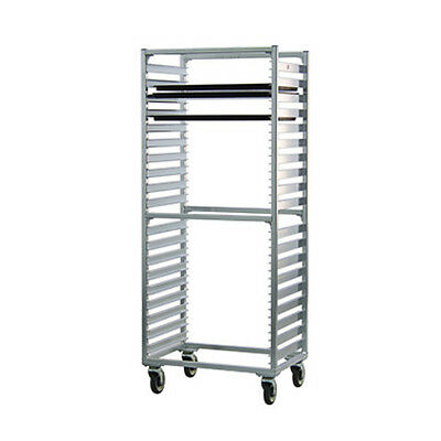 New Age 1461S Full Height Mobile Bun Pan Rack W/ (38) Pan Capacity Side Loading