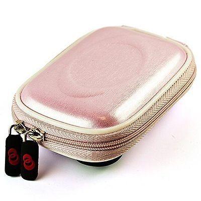 Semi Hard Camera Case - Pink TPU Semi Hard Compact Camera Pouch Case w/Clip for Canon Powershot IXUS190