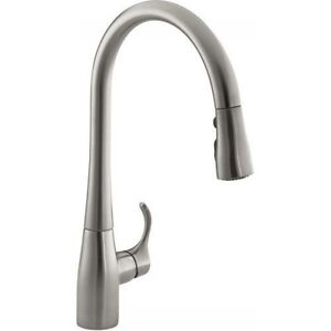 Kohler K-596-VS Pull-Down Kitchen Sink faucet Stainless