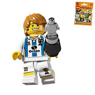 NEW Lego Boy//Girl Minifig WHITE LEGS w//Yellow Black Soccer Player Shorts Print