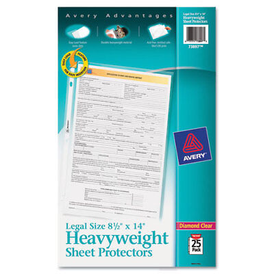 Top-load Polypropylene Sheet Protector Heavy Legal Diamond Clear 25pack