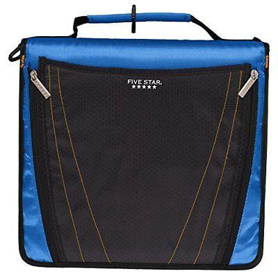 Five Star 2 Inch Zipper Binder Expanding Pocket Durable Blue 73301 Taxfree