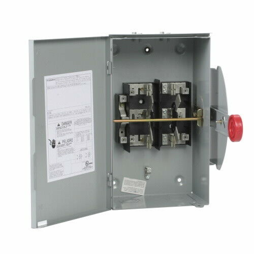 Safety Switch Non Fused General Duty Double-Throw 24,000-Watt 100 Amp 120/240V