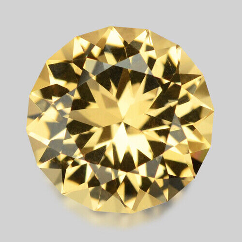 2.91cts EXQUISITE CUSTOM ROUND CUT NATURAL YELLOW BERYL VIDEO IN DESCRIPTION