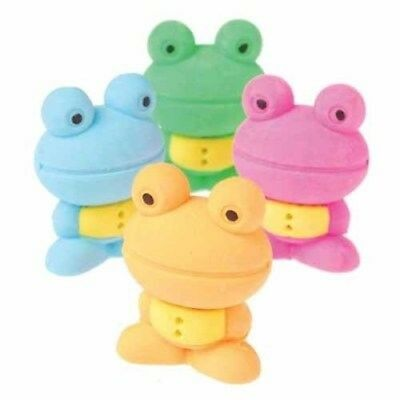 6 Japanese Style Frog Erasers Wholesale Party Favors (Japanese Party Favors)