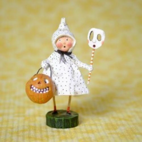 LORI MITCHELL ~ Polk a Dottie Boo Girl ~ Halloween Trick Or Treat Figurine ~